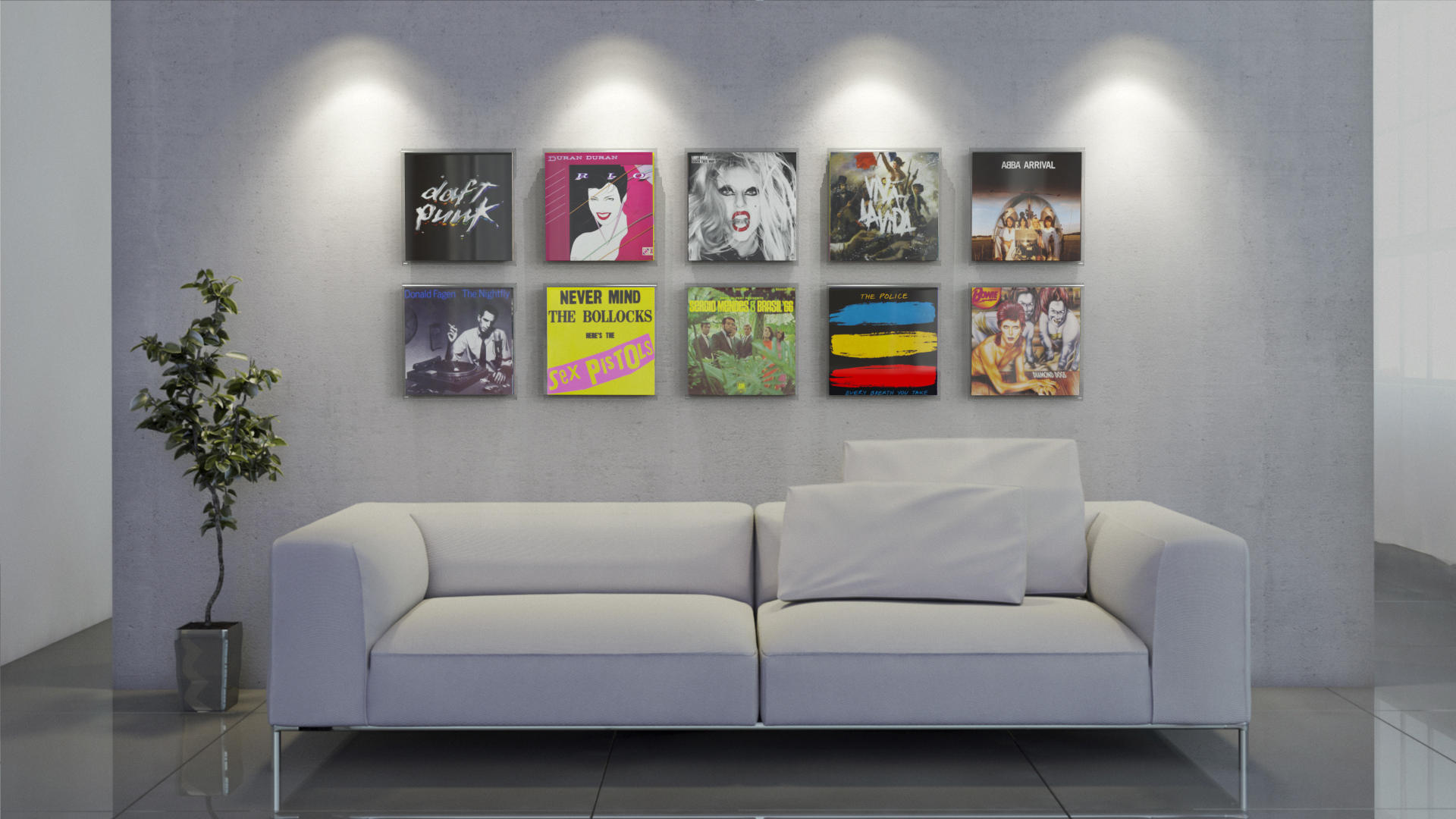 Magic Vinyl Display im Wohnzimmer